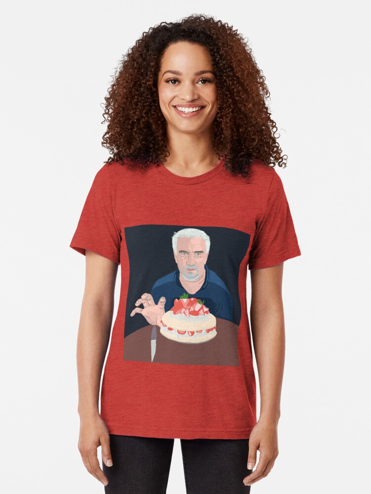 Alternate view of Paul Hollywood is hungry Tri-blend T-Shirt