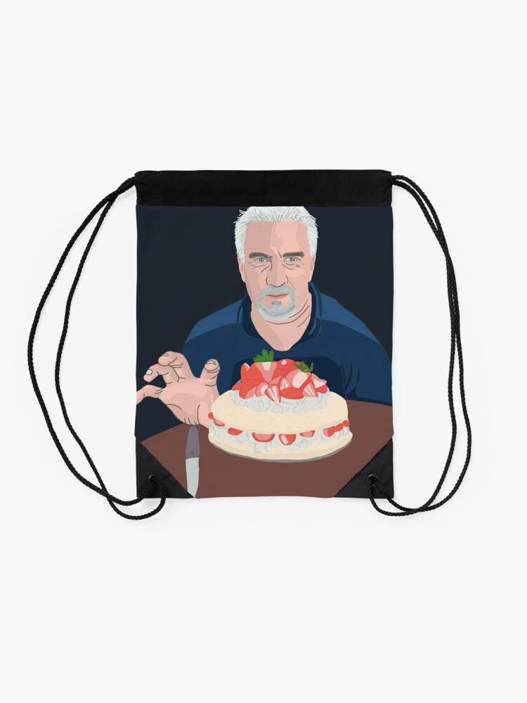 Alternate view of Paul Hollywood is hungry Drawstring Bag