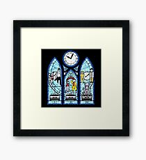 BTTF I,II,III- Stained Glass Window Framed Print