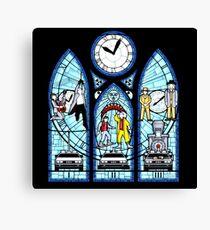 BTTF I,II,III- Stained Glass Window Canvas Print