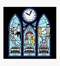 BTTF I,II,III- Stained Glass Window Photographic Print