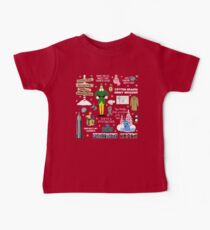 Buddy the Elf collage, Red background Baby Tee