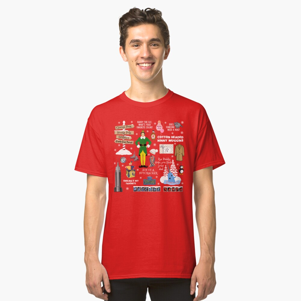 Buddy the Elf collage, Red background Classic T-Shirt