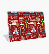 Buddy the Elf collage, Red background Laptop Skin