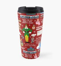 Buddy the Elf collage, Red background Travel Mug