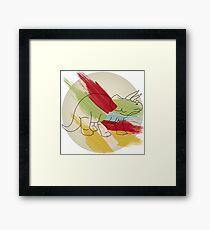 Jurassic Color Framed Print