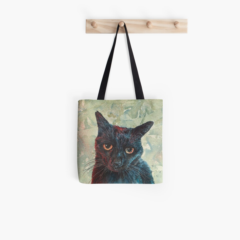 Pooky the Black Cat Tote Bag
