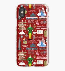 Buddy the Elf collage, Red background iPhone Case/Skin