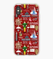 Buddy the Elf collage, Red background iPhone Case
