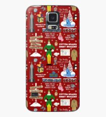 Buddy the Elf collage, Red background Case/Skin for Samsung Galaxy