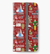 Buddy the Elf collage, Red background iPhone Wallet/Case/Skin