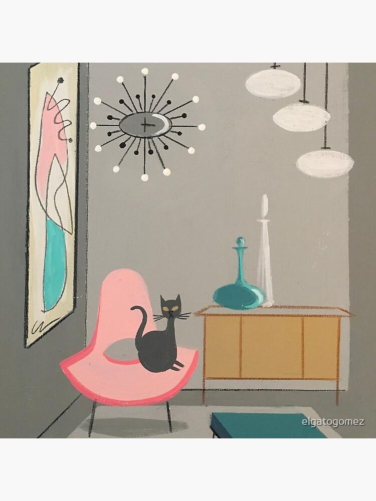 cat in room  by elgatogomez