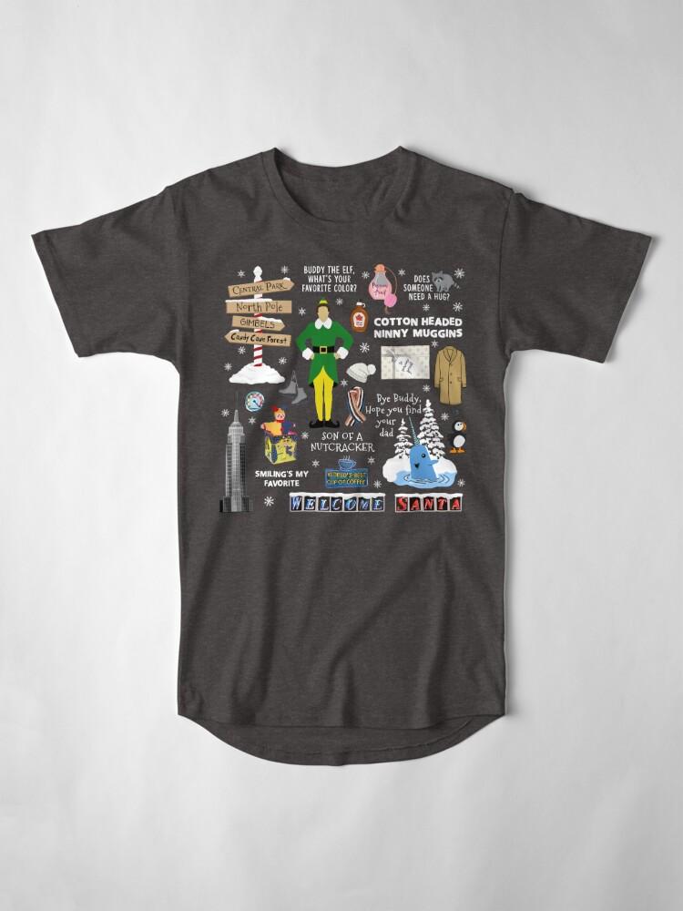 Alternative Ansicht von Freund die Elfencollage, blauer Hintergrund Longshirt