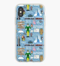 Buddy the Elf collage, Blue background iPhone Case