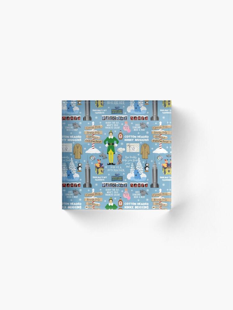 Alternative Ansicht von Freund die Elfencollage, blauer Hintergrund Acrylblock
