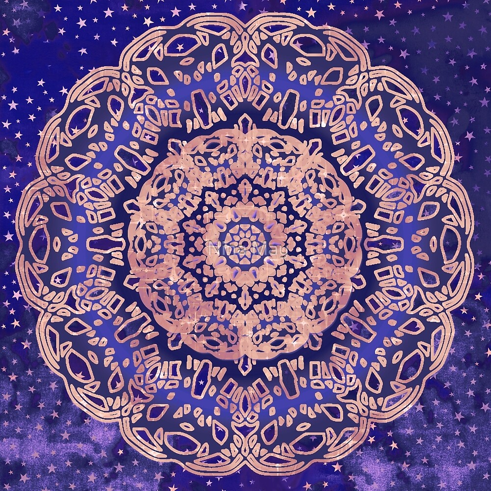 Violet Night Sky Mandala by Nina May