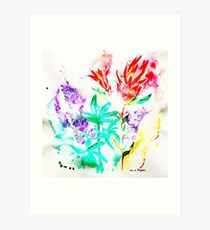 Lupine and Indian Paintbrush  Art Print