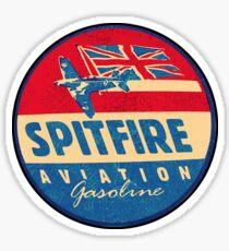 Spitfire Aviation Gasoline Sticker