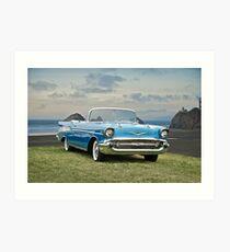 1957 Chevrolet Bel Air Convertible Art Print