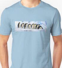 Penguins in a line Unisex T-Shirt