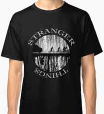 Stranger Things The Upside Down V2 Black and White Classic T-Shirt