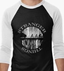 Stranger Things The Upside Down V2 Black and White T-Shirt