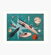 Kitty Stardust Art Print