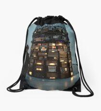 Tower of Radios Drawstring Bag