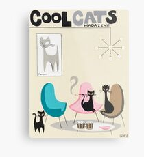 Lienzo metálico Revista Cool Cats