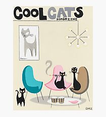 Cool Cats Magazine Photographic Print