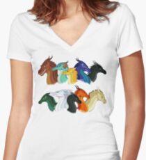 Flügel des Feuers - POV Charaktere Shirt mit V-Ausschnitt