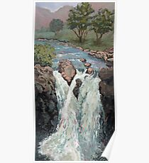 Waterfall in the Scottish Highlands near Glencoe Poster