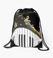 Ivory Keys Piano Music Drawstring Bag