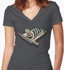 Xenomaki Women's Fitted V-Neck T-Shirt