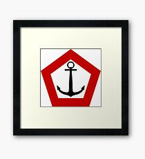 Roundel of the Indonesian Naval Aviation Framed Print