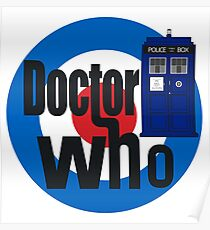 Doctor Who! (White) Poster