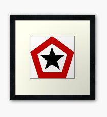 Roundel of the Indonesian Army Aviation Framed Print