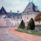 Watercolour                      Chateau  du Mung  by Irene  Burdell