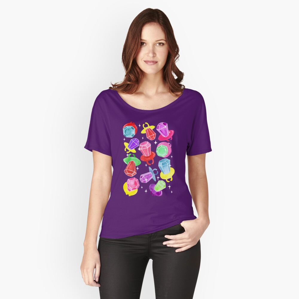 Ring Pop Cosmic Sparkle - Purple Relaxed Fit T-Shirt
