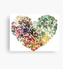 150 Tage Liebe, Obst und Gemüse Metallbild