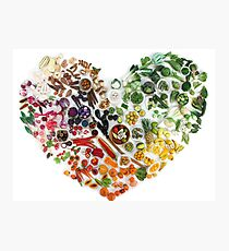 150 Days of Love, Fruit and Veggies Photographic Print