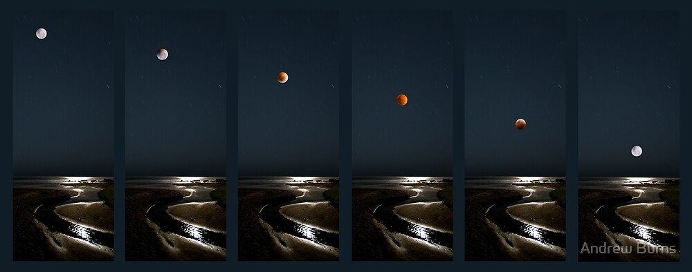 Lunar Eclipse panels, 2007 by Andrew Burns