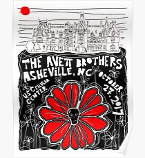 The Avett Brothers  U.S. Cellular Center October 27, 2017 Poster