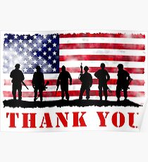 THANK YOU SERVICEMEN AND VETERANS! Poster