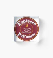 Espresso Patronum Acrylic Block