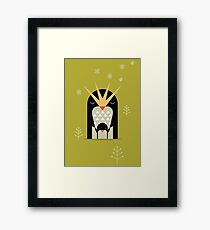 Love Penguin  Framed Print