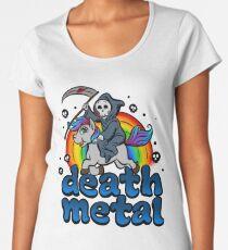 Death Metal Music Unicorn Pony Rainbow Pink Fan Women's Premium T-Shirt