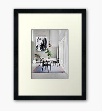 room with plein air  Framed Print