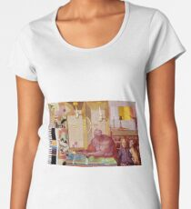 Occaisional Dream 9 mapping The Land. Women's Premium T-Shirt