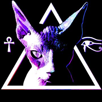 Egyptian Triangle Cat by robotface
